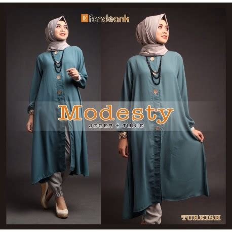 Agoest Pant Brown modesty turkish baju muslim gamis modern