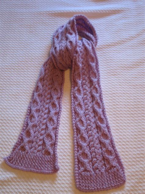stricken schultertuch cable knit scarf pattern a knitting