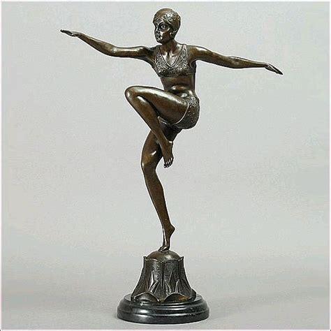 art deco sculpture modern art bronze dancer statue bronz ferdinand preiss art deco bronze sculpture con brio from