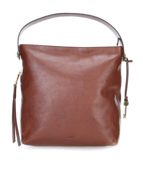 Fossil Hobo Grained Swing The Season fossil hobo grained cowhide brown zb6979200 designer bags shop wardow