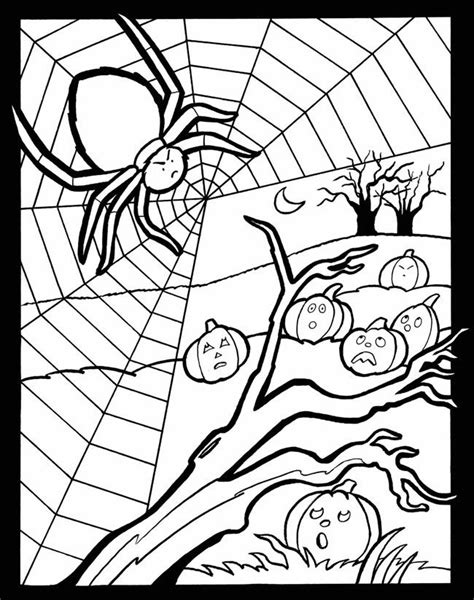 happy spider coloring page 54 best images about halloween printable s for kids on