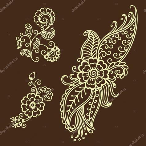 tattoo henna vorlage henna tattoo blume vorlage mehndi stockvektor 103796344