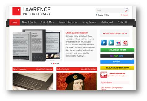 library home page design http www behance net gallery