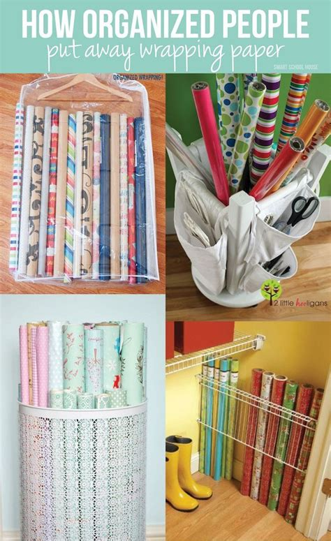 How To Wrap A For Storage by Best 25 Wrapping Paper Storage Ideas On Gift