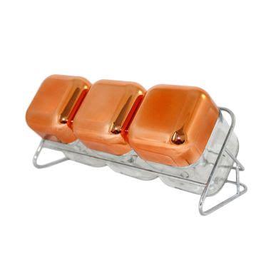 Tempat Simpan Makanan Bulat Lebar Set 3 Pcs jual oxone ox 354r rosegold cube storage with rack 3 pcs harga kualitas terjamin