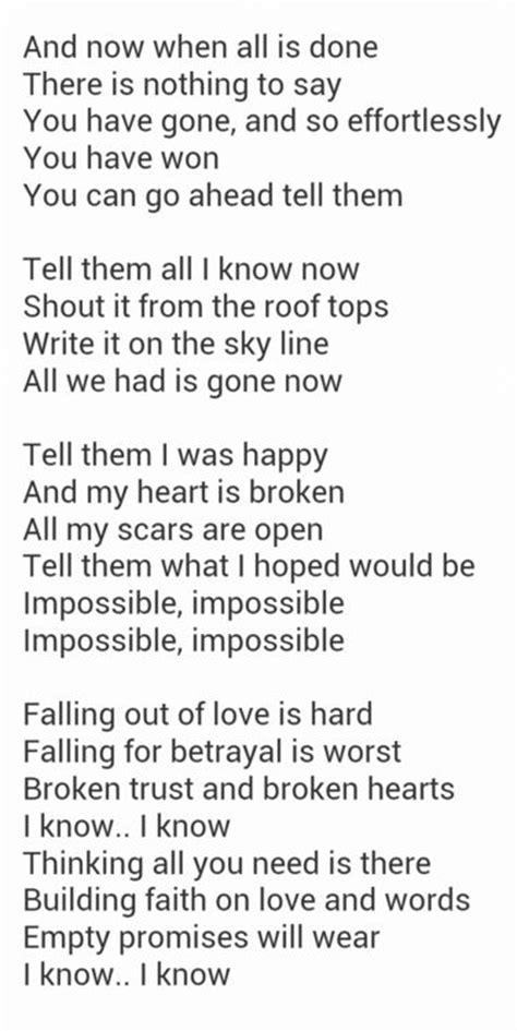 testo impossible arthur impossible arthur lyrics