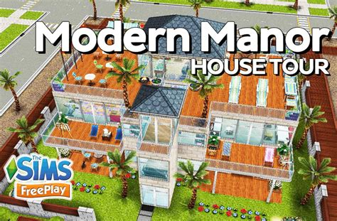 sim house designs the sims freeplay modern manor original house design sims freeplay house designs kunts