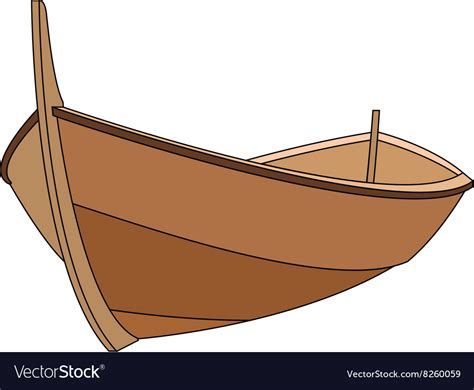wooden boat images wooden boat 380x400 royalty free vector image vectorstock