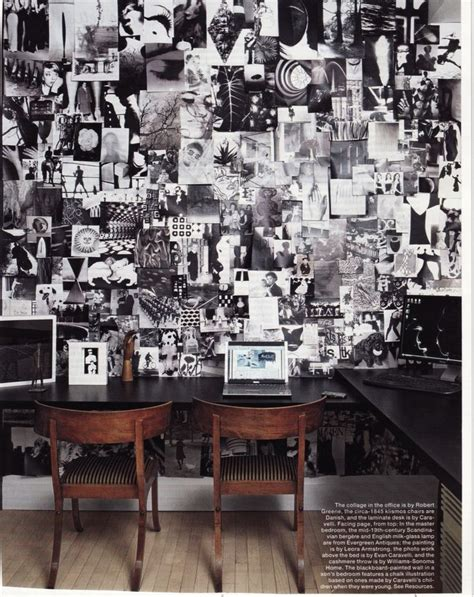 elle decor home office study ins iration wall by paula caravelli in elle decor magazine decorate home office