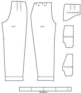 trouser pattern making pdf sewing pattern for pleat front trousers download online