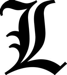japanese l black letter