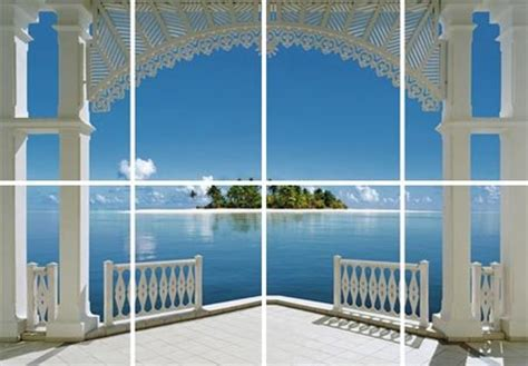 A Perfect Day Wall Mural a perfect day 8 sheet tropical wall mural buy online