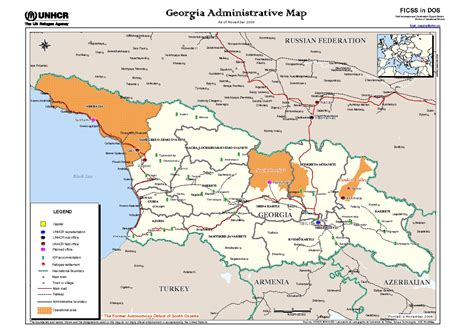 map of south maps of south ossetia detailed map of south ossetia in