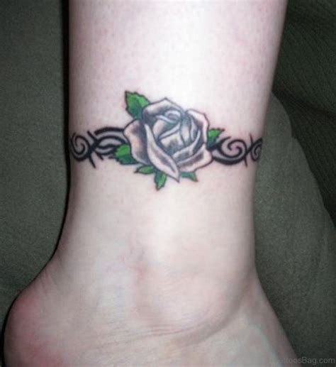 rose ankle bracelet tattoos 50 fabulous tattoos on ankle