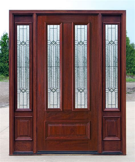 Mahogany Front Door With Glass by Exterior Doors With Sidelights Solid Mahogany Entry Doors
