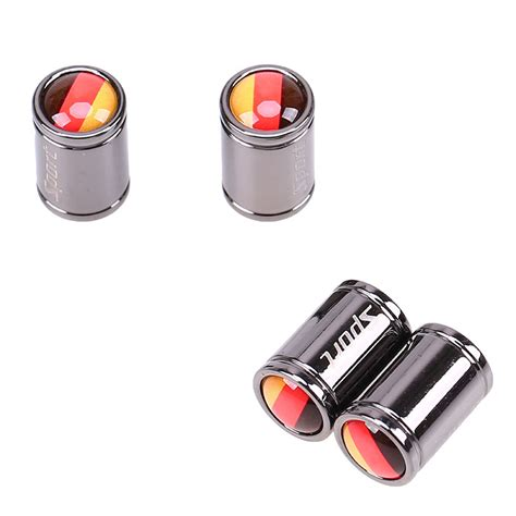 germanyusaaustralianukitalyfrance flag stainless steel car wheel tire valves tyre stem air