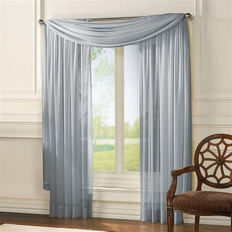chiffon curtains drapes classic chiffon window curtain panels bed bath beyond