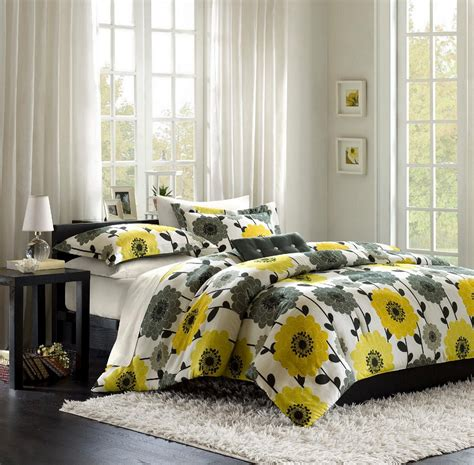 yellow and grey yellow and gray bedroom to get better sleeping quality