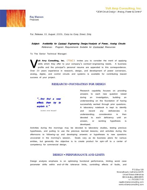 vac cover letter business profile resume graphics e