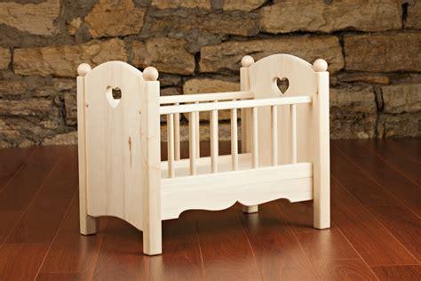 Handmade Wooden Crib - handmade wooden doll crib