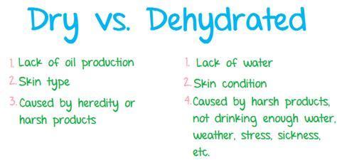 dehydration test vs dehydrated skin skin care estheticians