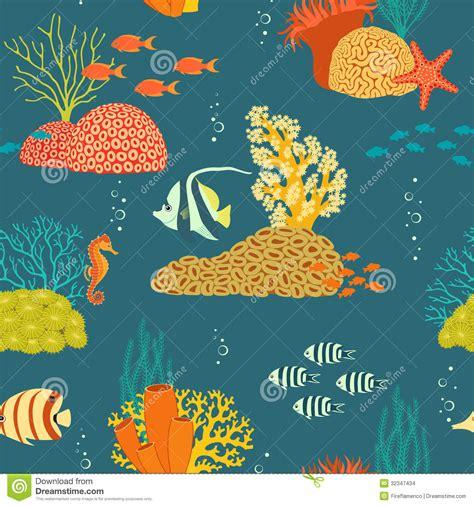 underwater pattern background underwater life pattern stock images image 32347434