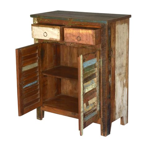 reclaimed wood storage cabinet multicolored reclaimed wood storage cabinet with 2 drawers