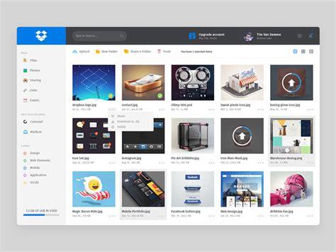 dropbox redesign dropbox dashboard redesign freebie download photoshop