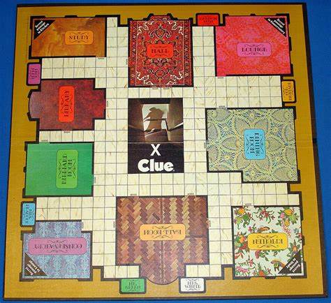 clue rooms brothers clue detective board 45 suspects weapons rooms vintagetoys item 953