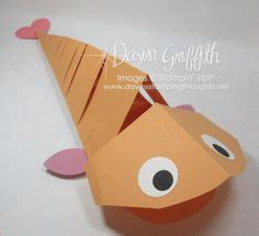 Paper Fish - craft ideas on corner bookmarks stin up