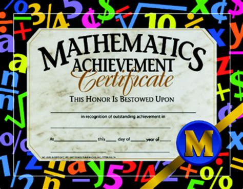 image gallery math award