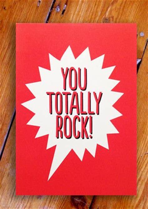 blah blah blah you totally rock postcard