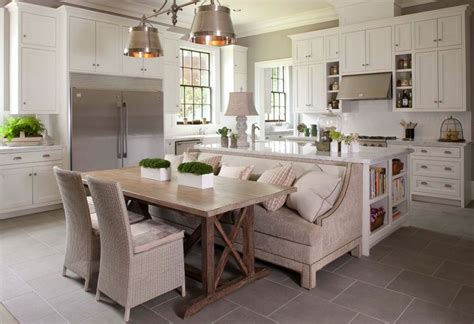 Traditional kitchen with bench seating