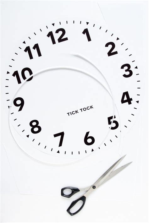 free printable large clock face ikea large wall clock makeover classy clutter