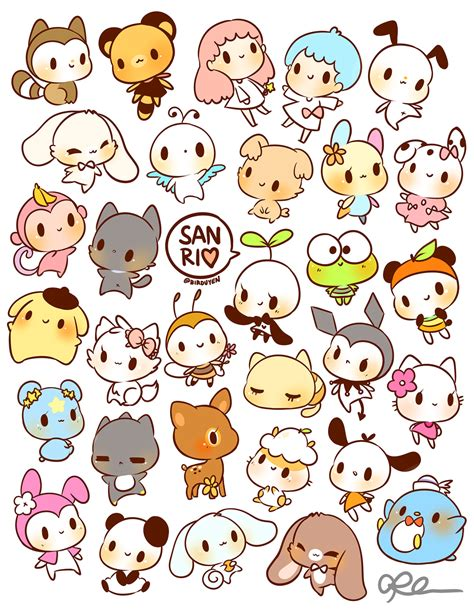 printable stickers cute by birduyen sanrio stickers available in my shop