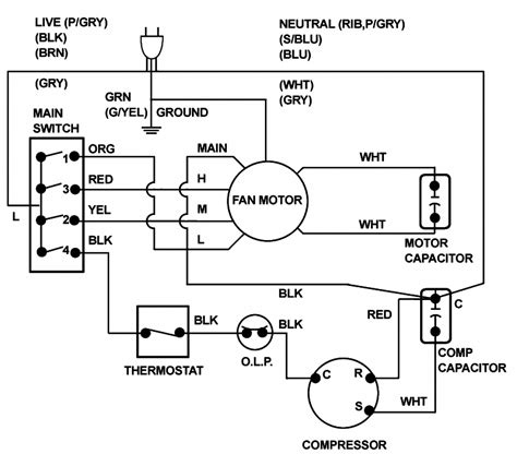 window air conditioner wiring diagram pdf free