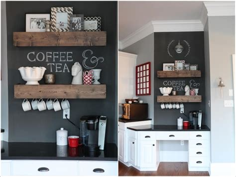 Pine Desk With Hutch 10 Cool Ideas To Set Up A Home Coffee Station