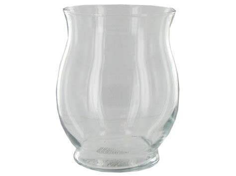 clear glass small hurricane vase wedding
