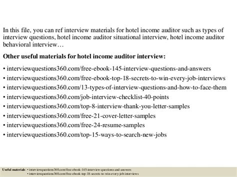 top 10 hotel income auditor questions and answers