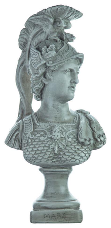 ares mars statue greek roman god of war figure bronze 12 5 polyvore roman statue classic ares mars bust greek god of war