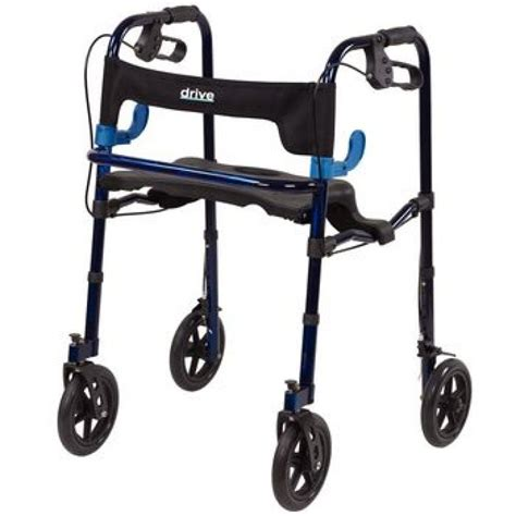 drive walker with seat sammons drive clever lite walker rollator with