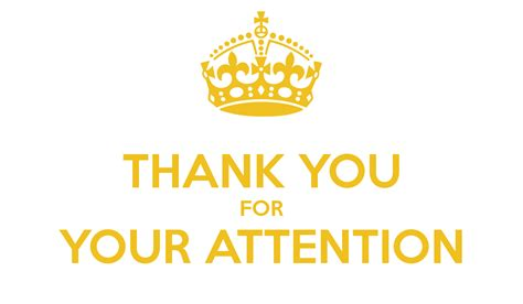 thank you for your attention poster zd keep calm o matic