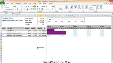 Microsoft Excel Graph Templates by Gantt Chart Template Excel 2010 Microsoft Powerpoint