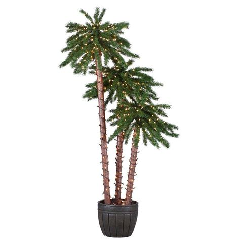outdoor lighted palm tree home depot sterling 4 ft 5 ft and 6 ft pre lit palm tree grouping