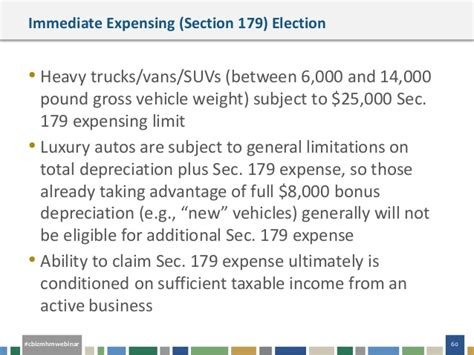 section 179 business income limitation webinar slides third quarter accounting and financial