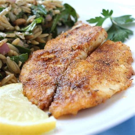 pan seared tilapia add extra herbs and spices to the flour mix and make this quick pan seared