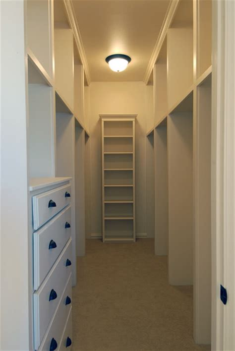 Narrow Closet Ideas by 09 241 Traditional Dallas By C S Cabinets Inc