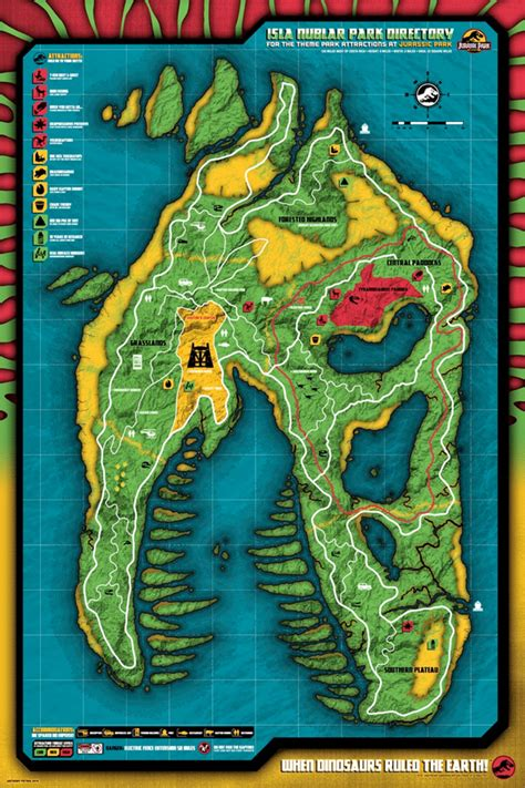 jurassic park map check out anthony petrie s great gallery 1988 map artwork firstshowing net