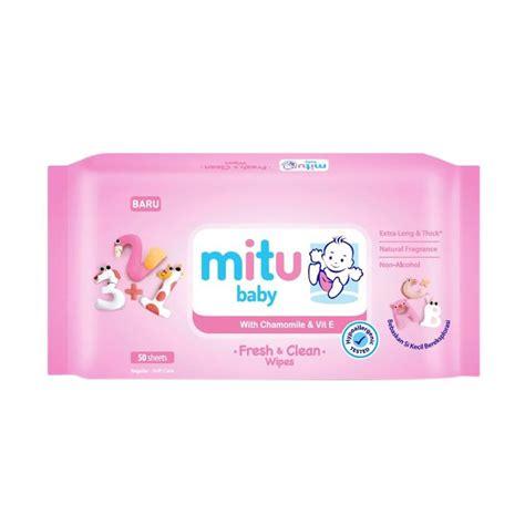 Mitu Tissue Basah 50 Sheets jual mitu baby regular wipes pink 50 sheets