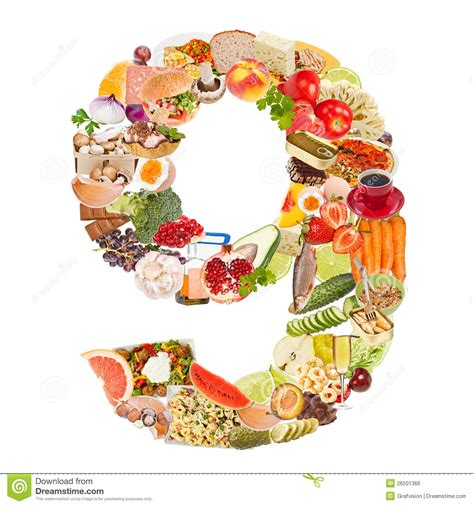 what is food made of number 9 made of food royalty free stock image image